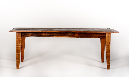 Living Edge Dining Table Handmade From Reclaimed Wood